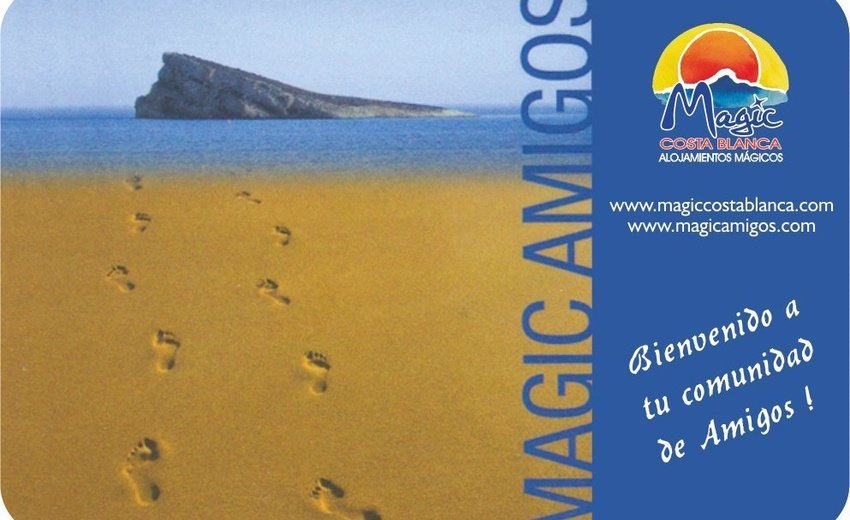 "Carte ""Amigos"" Magic Aqua™ Rock Gardens Benidorm"