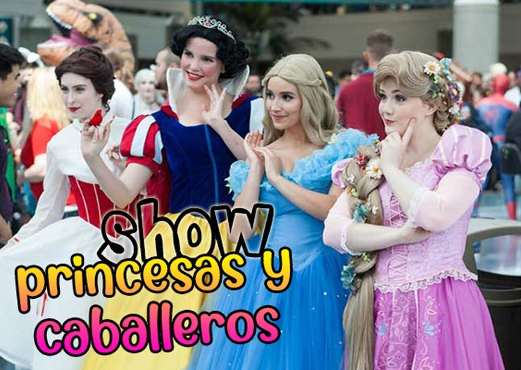 Show princesses et chevaliers hôtel magic rock gardens benidorm